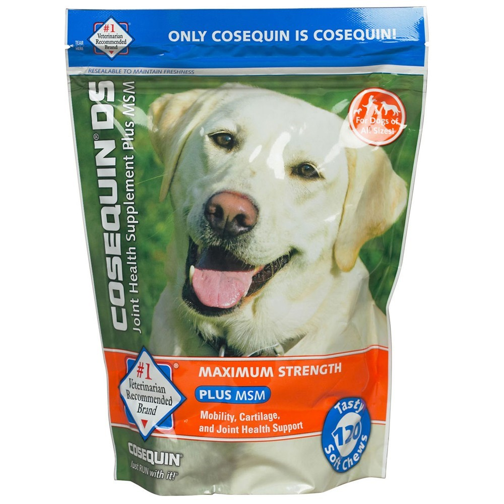 Nutramax Cosequin Maximum Strength (DS) Plus MSM Joint Health Dog , 120 Soft Chews