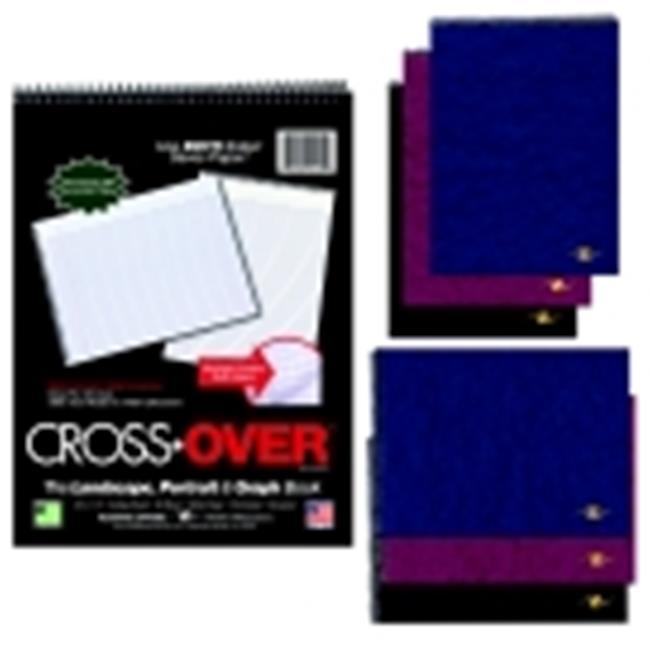 Cross Over Notebook - College And Margin Ruling, 80 Sheets, White