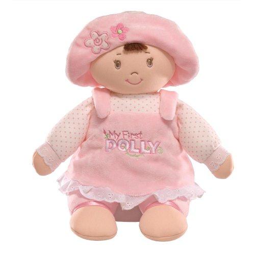 Gund My First Dolly Brunette Stuffed Doll