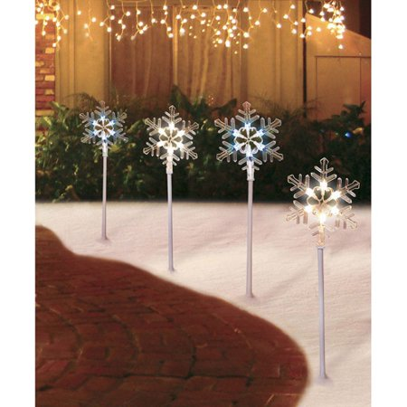 Outdoor Pathway Christmas Trees