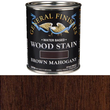General Finishes Water Based Wood Brown Mahogany Stain, -