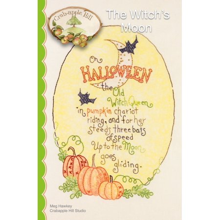 The Witches' Moon, Pattern only By Crabapple - Crabapple Hill Halloween Patterns