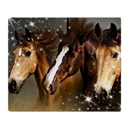 "CafePress - Sky Horses - Soft Fleece Throw Blanket, 50""x60"" Stadium Blanket"