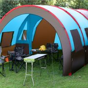 Double Outdoor Camping Accessories Layer Tunnel Tent Camping For 8-10 Person Party Family Outdoor Travel Hiking
