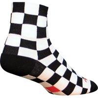 SockGuy Classic Ridgemont Sock Black/White Checker LG/XL