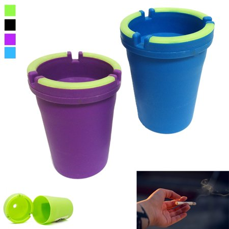 2 Ashtray Car Cup Glow Butt Bucket Cigarette Smoke Ash Holder Self Extinguishing Ash 02 Ash Bucket