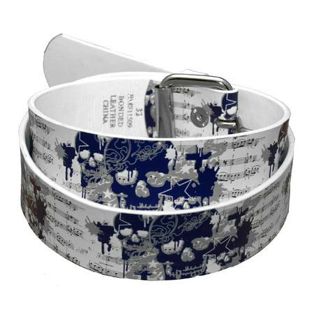 Purple Skulls and Music Belt (Skull Belt)