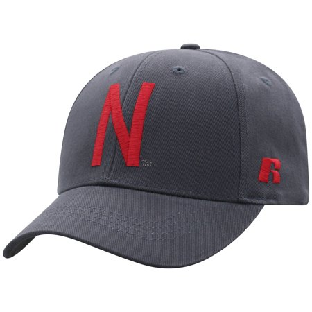 Men's Russell Charcoal Nebraska Cornhuskers Endless Adjustable Hat - OSFA