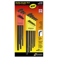 STUBBY DOUBLE BALL L-WRENCH COMBINATION SET