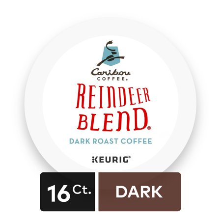 Caribou Coffee Reindeer Blend Keurig Single-Serve K-Cup Pods, Dark Roast Coffee, 16 Count