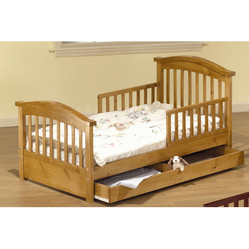 Sorelle Joel Pine Convertible Toddler Bed with Storage
