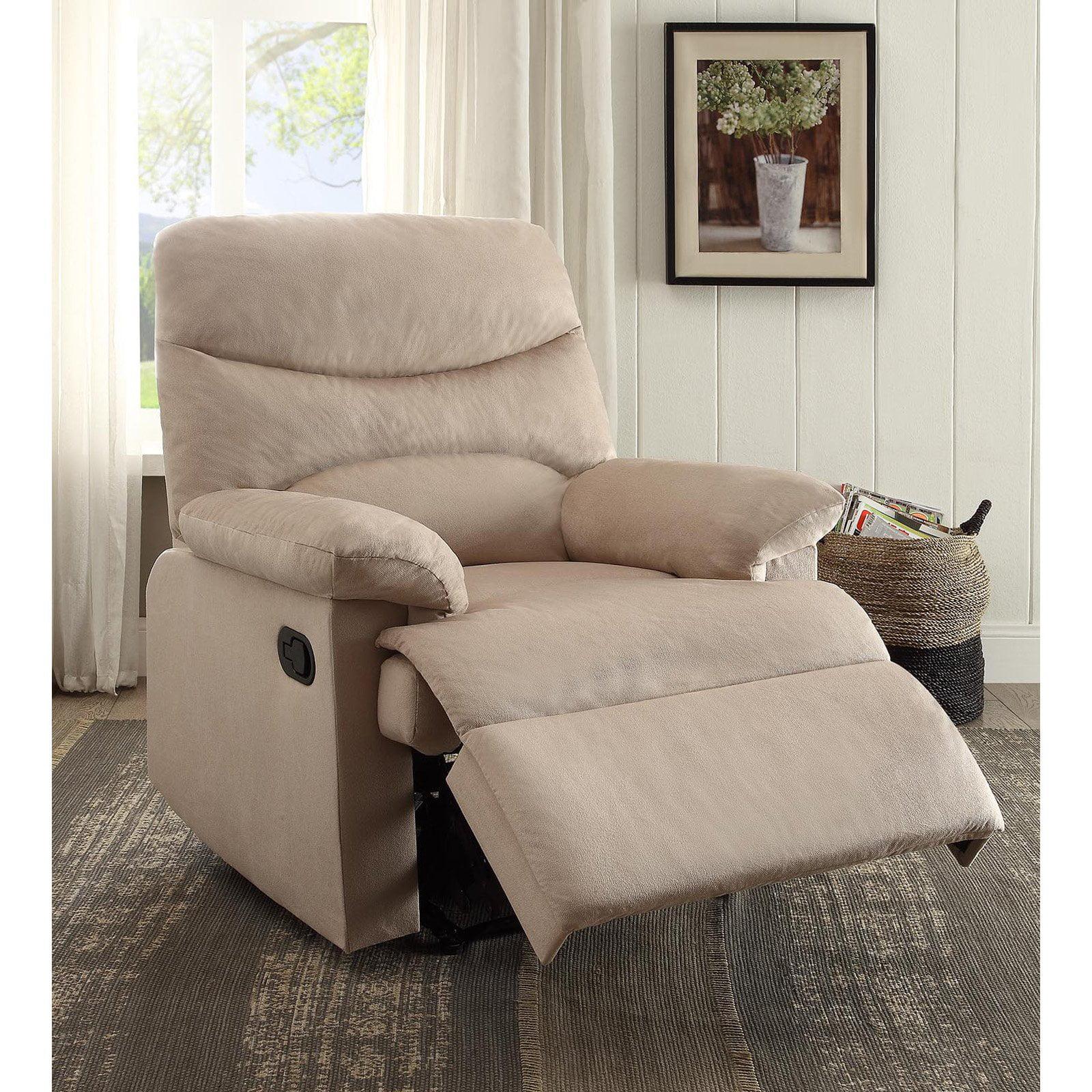 Oakwood Woven Fabric Recliner, Beige - Walmart.com