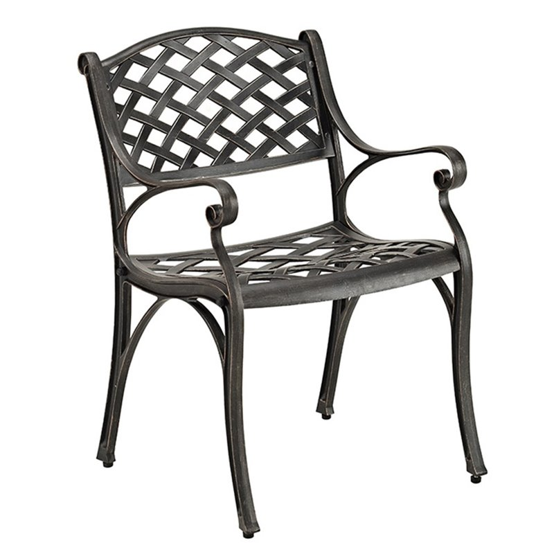 Pemberly Row Aluminum Patio Chair in Antique Bronze (Set of 2) - image 3 of 3