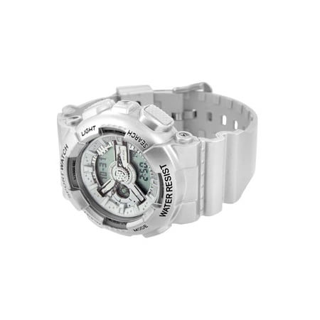 Shock Resistant Silver Watch Sports Edition Analog-Digital Mens