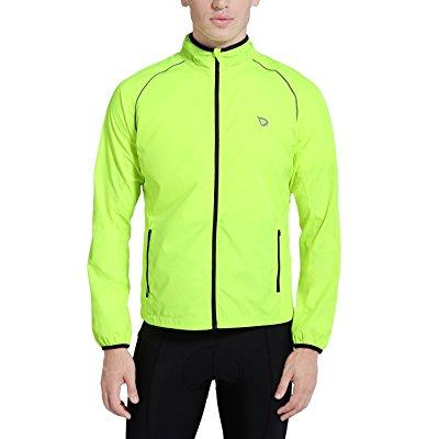 baleaf men's windproof cycling windbreaker jacket fluorescent yellow size xl by