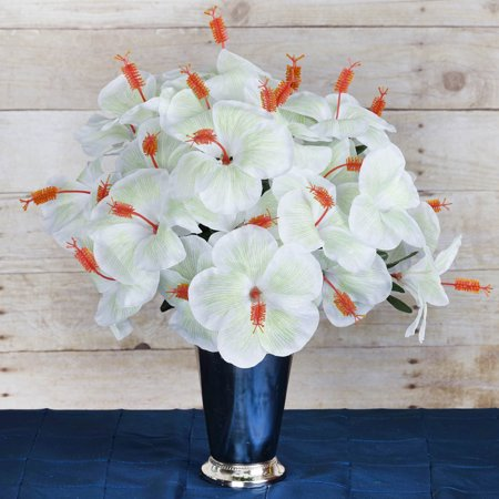 BalsaCircle 60 Silk Hibiscus Flowers - DIY Tropical Home Wedding Party Artificial Bouquets Arrangements Centerpieces ()