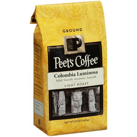 Peet's Coffee Colombia Luminosa Light Roast Ground Coffee, 12 oz