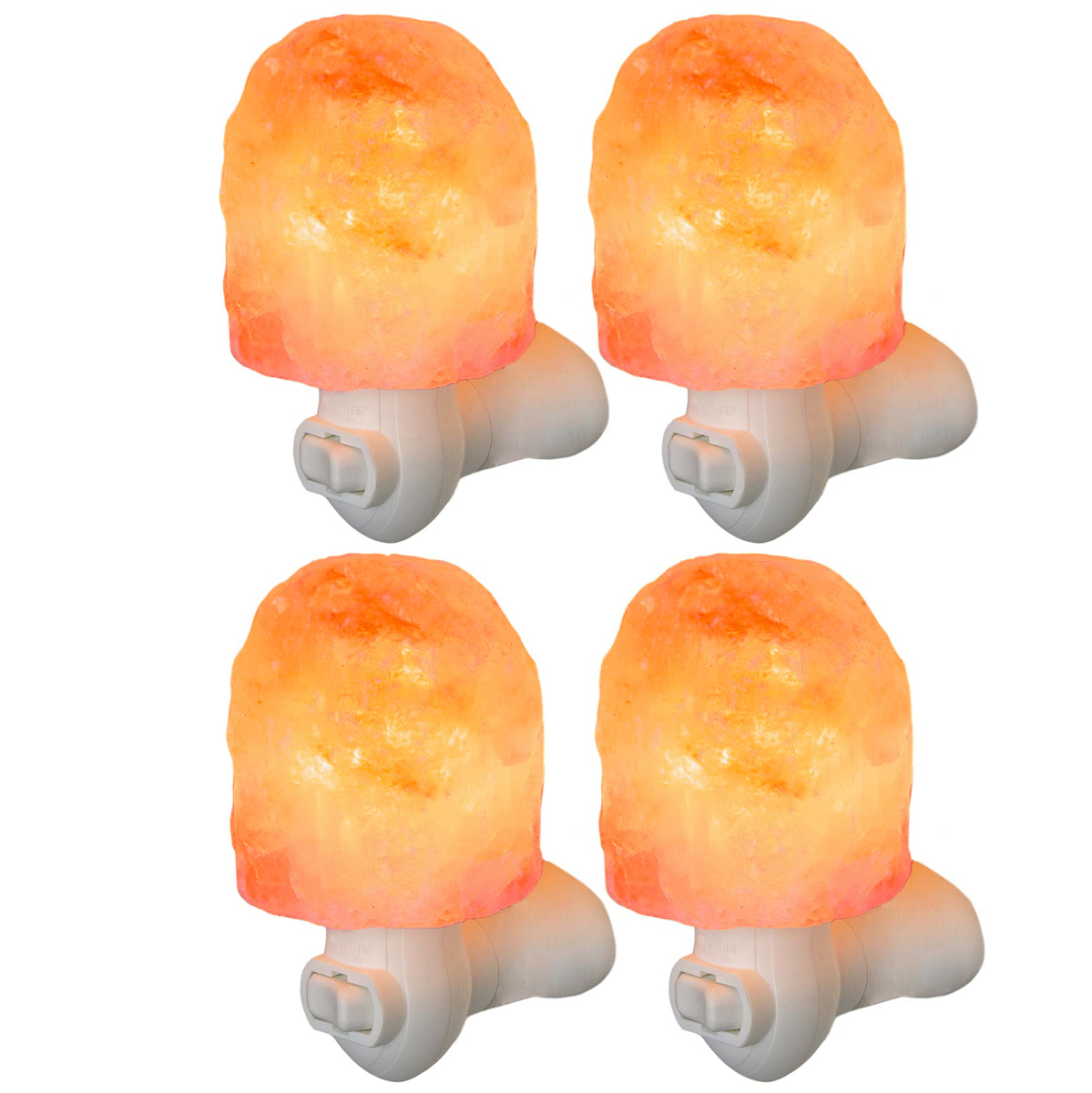 Simply Genius Himalayan Salt Lamp Night Light, Natural Crystal Wall Light With Bulb & Cord, Air Purifier Wall Plug, Bedroom Decoration and Lighting Adult and Kids Night Light Bulbs 7 Watts