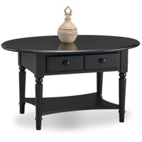 Leick Home Coastal Oval Coffee Table with Shelf, Multiple Colors