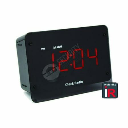 Hidden Camera Night Vision Clock - Mini Spy Camera Built Into Fully Functional Alarm Clock Radio - Perfect for Office, Home Nanny Cam - IR Infrared Night Vision LED Illuminators are 100% Invisible](Click Camera)