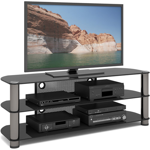CorLiving New York Metal and Glass TV Stand for TVs up to 65""