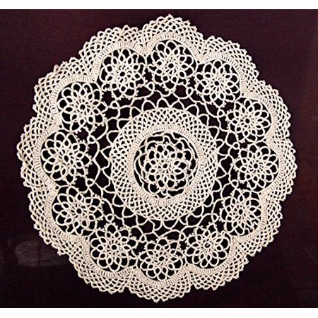 Lace Doilies For Sale (4-piece Handmade Tatting Lace Floral Cotton Traycloth Doilies, 10-inch Round)
