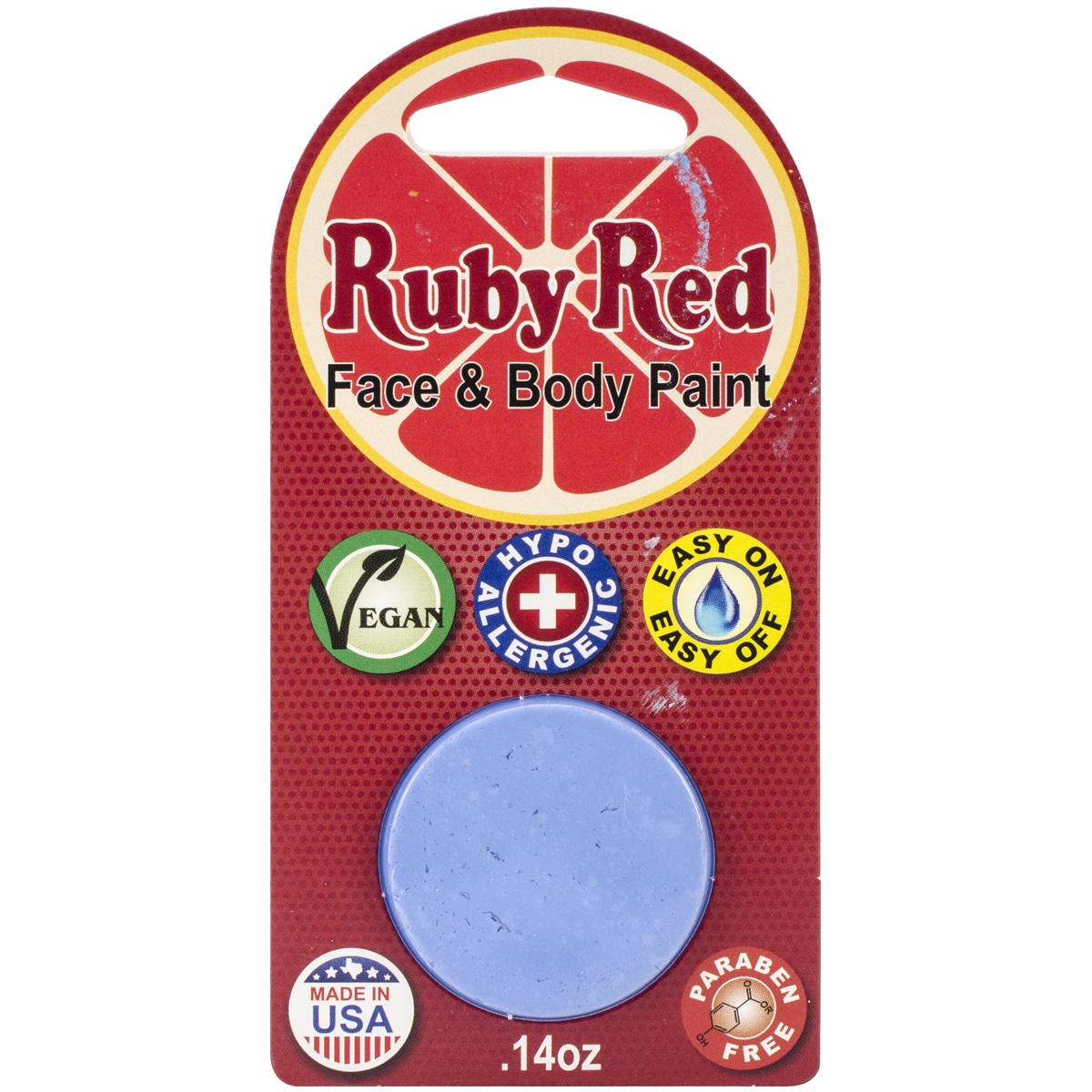 Ruby Red Face Paint .14Oz-Pastel Blue