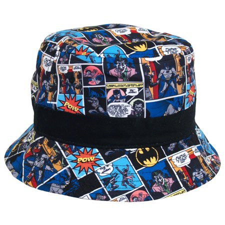 Batman DC Comics Comic Strip Microfiber Youth Fisherman Bucket Cap Hat