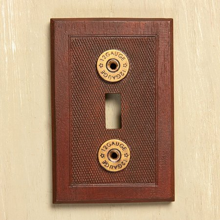12 Gauge Shotgun Shell Light Switch Cover, Hand cast resin By Big Sky Carvers Big Shot Collection thumbnail
