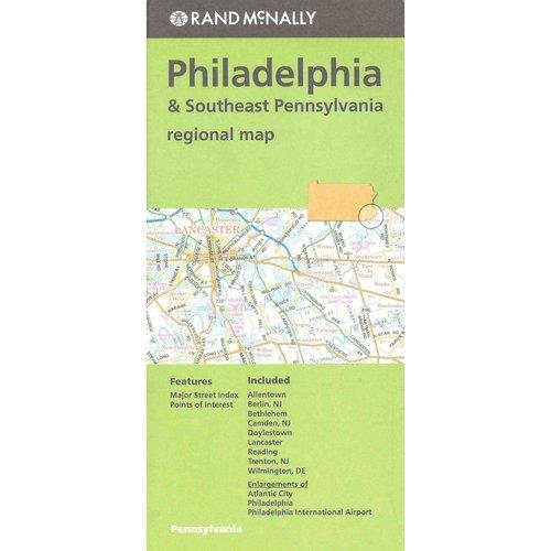 Rand Mcnally Regional Map Philadelphia & Southeast Pennsylvania