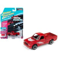 Johnny Lightning 1:64 Scale 1991 GMC Syclone Pickup Truck Gloss Red 90's Muscle Diecast Car