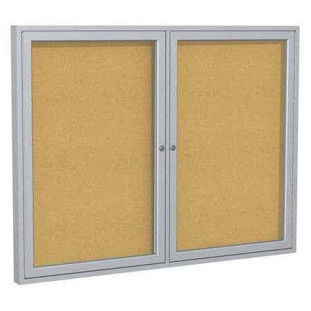 GHENT Enclosed Bulletin Board,Cork,36x48 In. (Ghent Bulletin Bars)