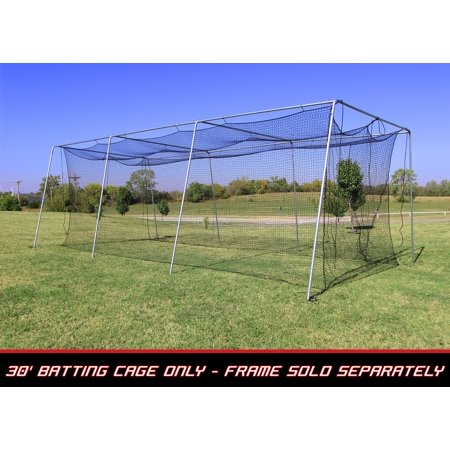 Cimarron Sports Baseball Batting Cage Net 30x12x10 #24 Twisted Poly Hdpe w/ Door Opening ()