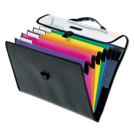 Pendaflex Desk Free Hanging Organizer With Case  1  Exp  6  Pocket  Letter  Poly  Assorted