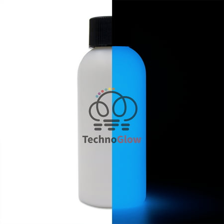 Blue Glow in the Dark Paint, 1 fl oz - Techno Glow - Paint Glow In The Dark