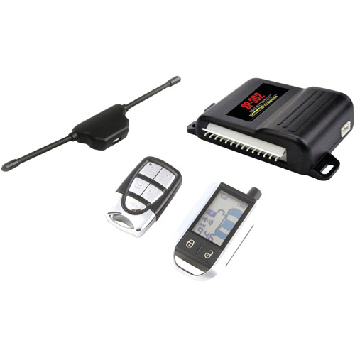 CSPI SP-302 2-Way LCD Paging Alarm and Keyless Entry System with Rechargeable Remote