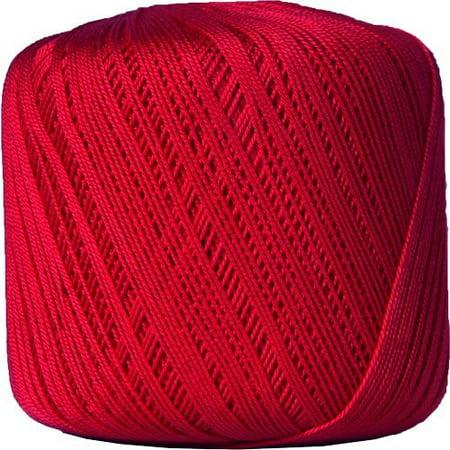 - Threadart Crochet Thread - Size 10 - Color 12 - RED - 3 Ball Bundle Packs