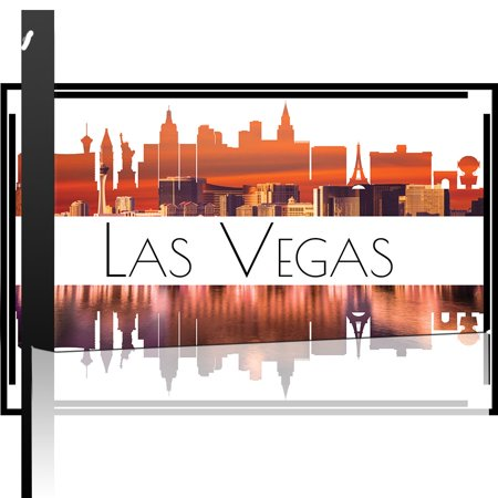 wall26 - City Skyline Series - Las Vegas - Colorful Urban Decor - Sunsets and Silhouettes Famous Buildings and Landmarks - Canvas Art Home Decor - 12x18 inches