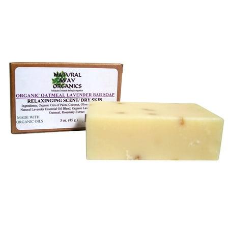 Organic Oatmeal Lavender Bar Soap (Organic Soap)