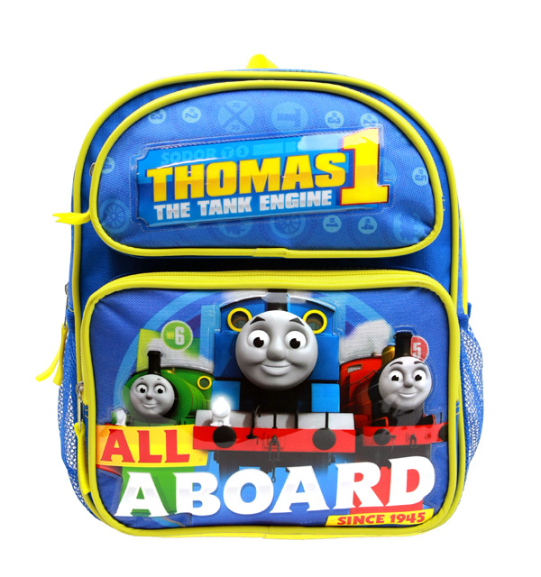 "Small Backpack Thomas The Tank Engine All a Board Blue 12"" School Bag TECF01 by Accessory Innovations"