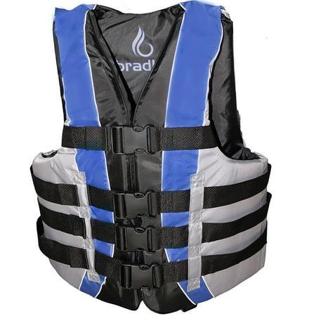 Bradley Fully Enclosed Deluxe 4-Buckle Adult Life Jacket Vest ()