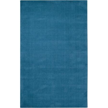 - 2' x 3' Rogue Love Sky Blue Hand Loomed Area Throw Rug