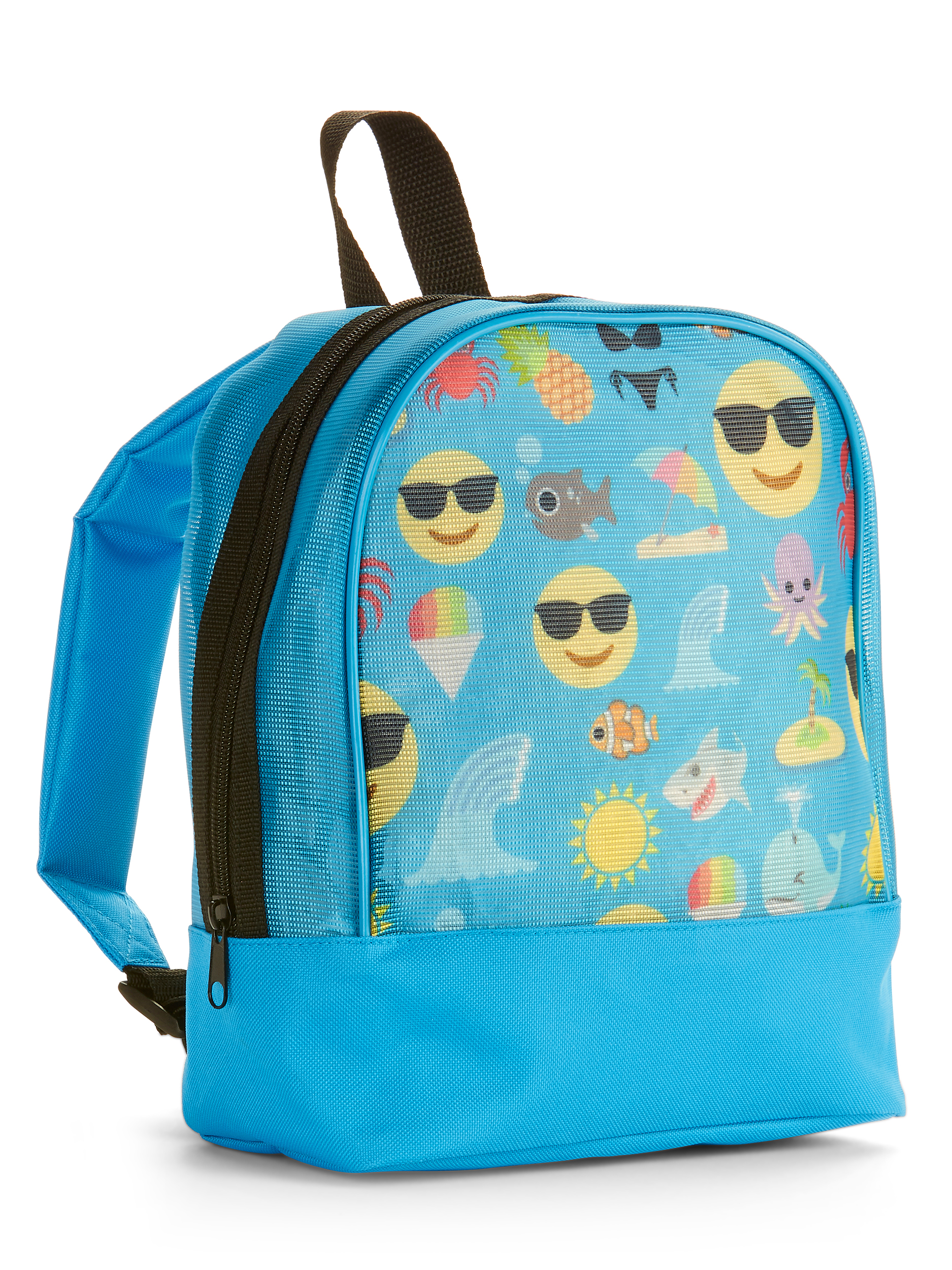 Emoji Beach Theme Mesh Mini Backpack
