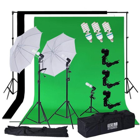 Studio Lighting Umbrella Light - Efavormart 600 Watts Photo Studio White Umbrella Continuous Lighting Kit With Backdrops