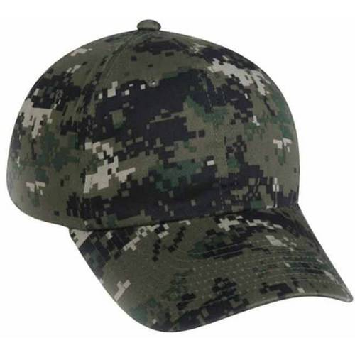 Digital Camouflage Fitted Hat, Olive