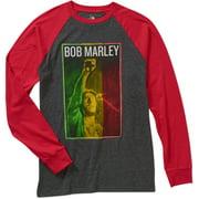 Bob Marley Big Men's Graphic Raglan Baseball Tee