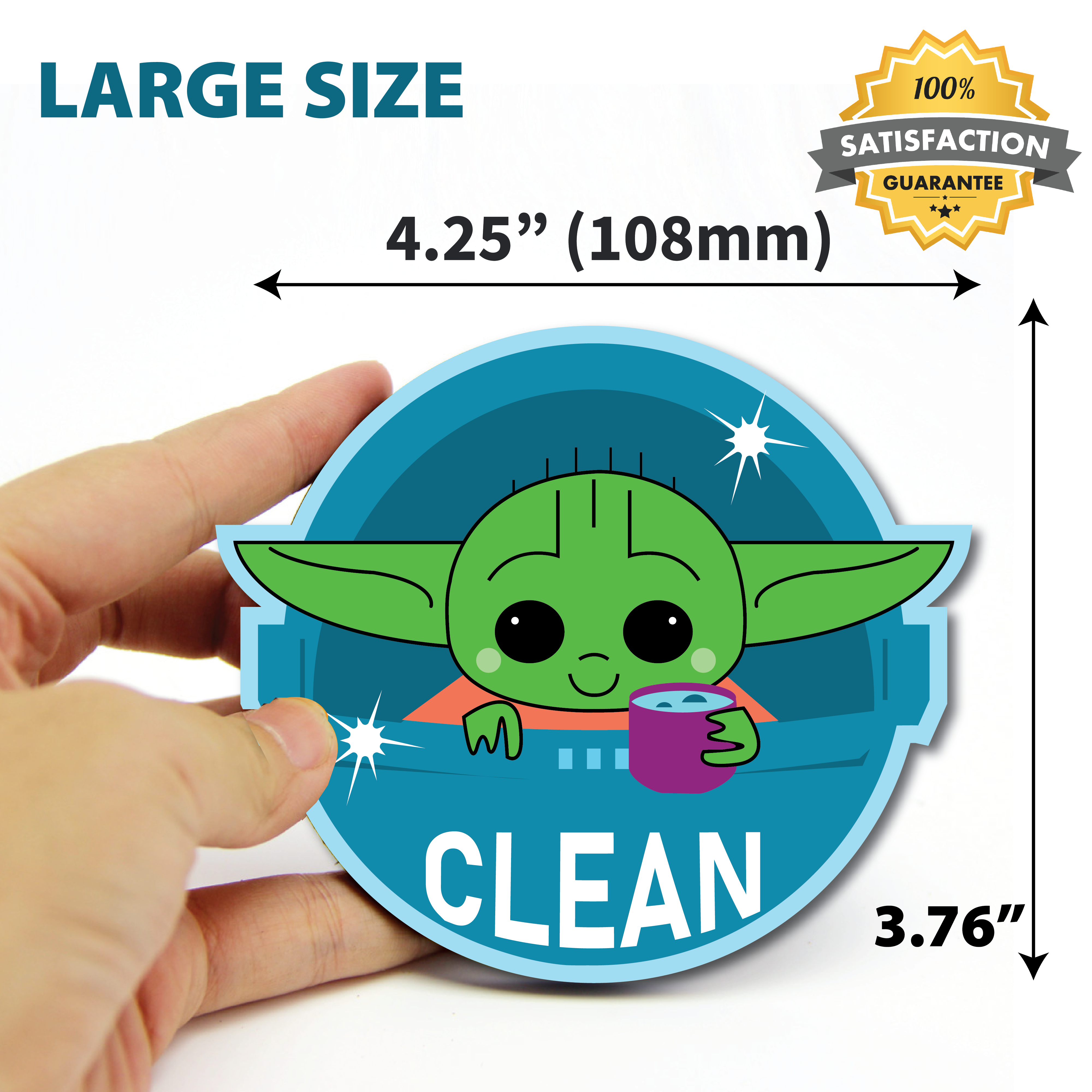 Baby yoda Sticker Magnet pc fridge ps area 51 magnets shop 2 FREE STICKERS