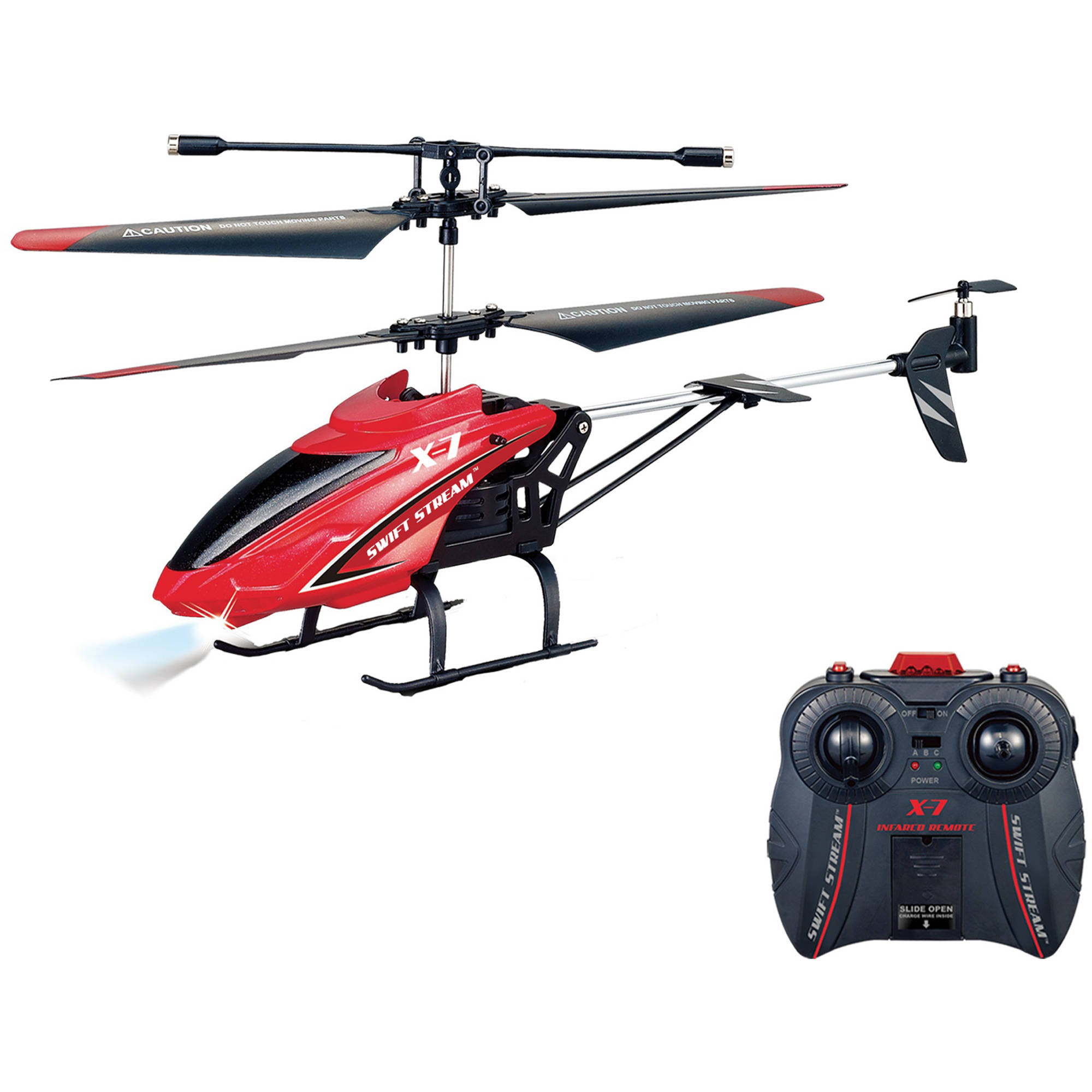 "Swift Stream X-7 Remote Control 9"" Helicopter, Red"