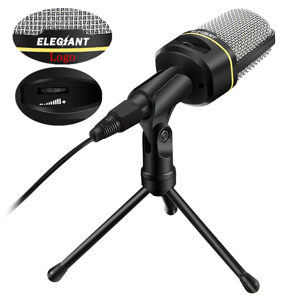 ELEGIANT SF-920 3.5mm Wired Studio Recording USB Condenser Microphone Mic +Tripod Stand by