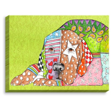 Labrador Retriever Paintings (DiaNoche Designs 'Labrador Retriever Dog' by Marley Ungaro Painting Print on Wrapped)